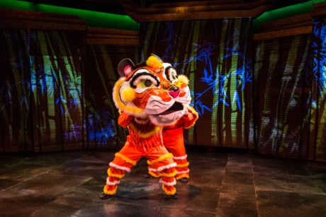 The Tiger Puppet head by Andrea Moore. Photo by Mike Horan.