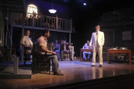 Courtroom scene with cast. Photo by Matt Liptak.