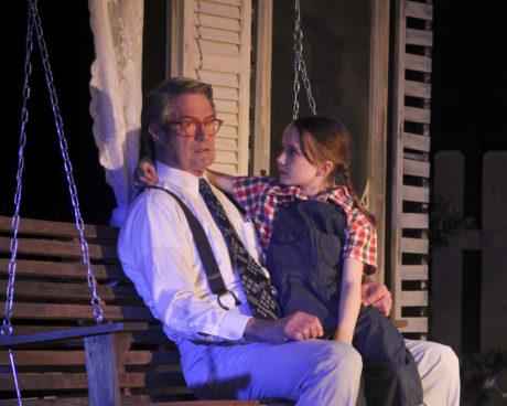 Richard Fiske (Atticus) and Olivia McMahon (Scout). Photo by Matt Liptak.