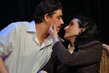 RC Castaneda (Hector Hushabye), Betsy Ryan (Ariadne Utterword). Photo by David Seidman.
