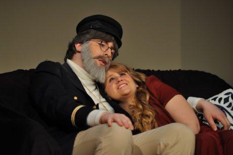 Gabriel Komisar (Captain Shotover) and Mandi Ellis (Ellie Dunn). Photo by David Seidman.
