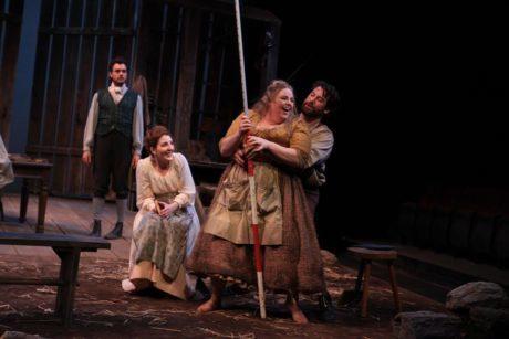 Stephen Matthew Tornetta, Rebecca Jane Cureton, Lize Meisenzahl, and Kyle Fennie in 'Translations.' Photo by Paola Nogueras .