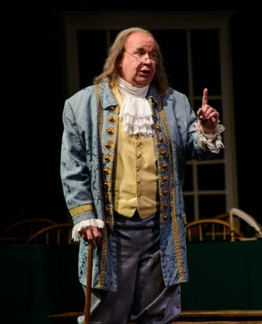 John Morrison (Ben Franklin). Photo by Maura McConnell.