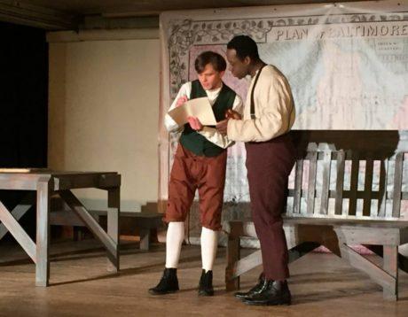 Damon Zarro and Gregory Holmes Jr. in 'Young Frederick Douglas.' Photo by Jen Jaynes.