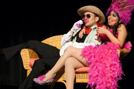 Jospeh Haddad as the Cat in the Hat and Hannah Gutin- Creech as Mayzie La Bird. Photo by Mumtaj Ismali.