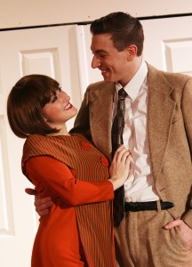 Lucy Bobbin (Millie Dillimount) and Garrett Matthews (Jimmy Smith). Photo by Shealyn Jae Photography.