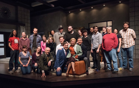 The cast, crew, and creative team of 'Dial M for Murder.' Photo by Stan Barouh.