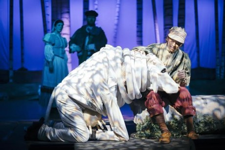 Noah Maenner as Jack and Zack Tasker as Milky White. Photo by Kevin Grall.