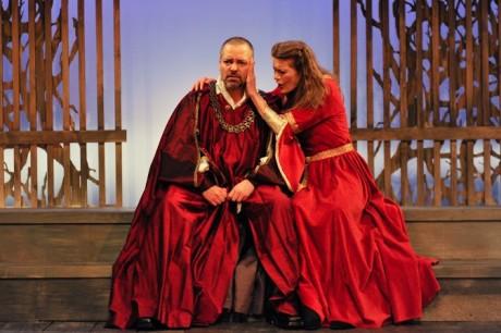 Rob Kahn (Macbeth) and Annabel Capper (Lady Macbeth). Photo by Kendall Whitehouse.