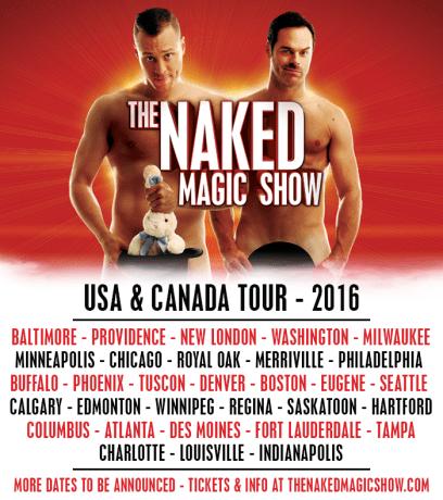 Nake Magic Show tour poster