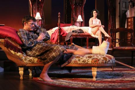Gregory Wooddell (Brick) and Alyssa Wilmoth Keegan (Maggie). Photo by Cheyenne Michaels.