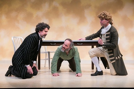 Brit Herring as Thomas Jefferson, Peter Boyer as Charles Dickens and Steven Carpenter as Count Leo Tolstoy. Photo by C. Stanley Photography .