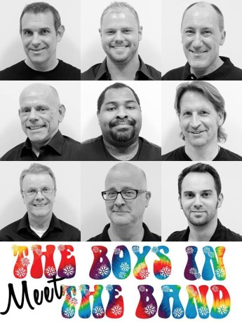 the cast of 'The Boys in the Band.' Photo courtesy of DOminion Stage.