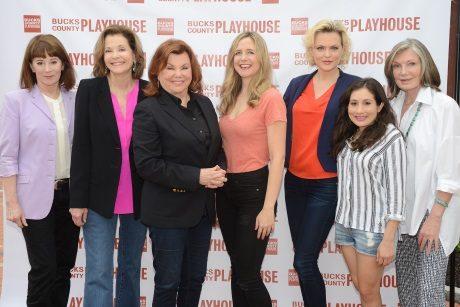 The cast of 'Steel Magnolias': Patricia Richardson, Jessica Walter, director Marsha Mason, Clea Alsip, Elaine Hendrix, Lucy DeVito, Susan Sullivan. Photo by Mandee Kuenzle.