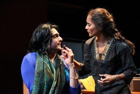 (L to R) Shravan Amin (ndira) and Lynette Rathnam (Nirmala). Photo by Stan Barouh.