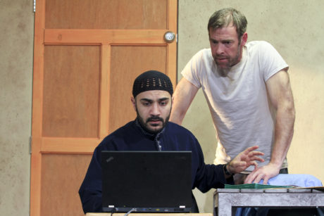 Left to right: Maboud Ebrahimzadeh and Ian Merrill Peakes. Photo by Paola Nogueras.