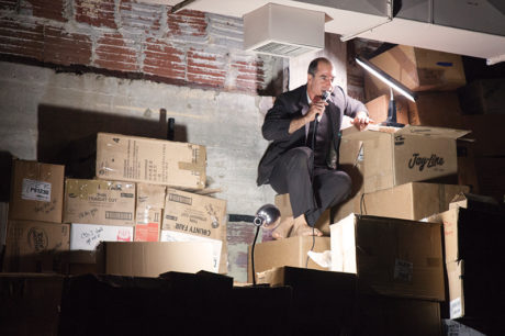 Geoff Sobelle in 'The Object Lesson.' Photo by Allie Dearie.