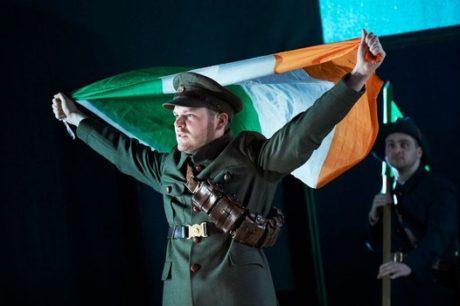 Lloyd Cooney as Lt. Langon and Liam Heslin as Capt. Brennan. Photo by Ros Kavanagh.