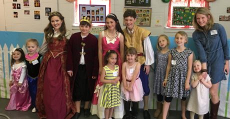 The Royal Family and special guests. Photo courtesy of The Children's Theatre of Annapolis.