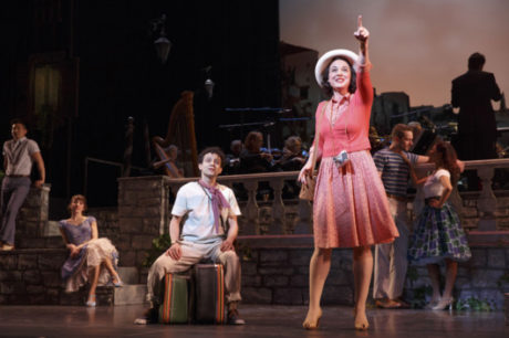Melissa Errico and the ensemble of the Encores! production of 'Do I Hear a Waltz?' Photo by Joan Marcus.
