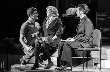 Danny Bertaux (Gabe), Susan Schindler (Diana), and. Photo courtesy of Silhouette Stages.