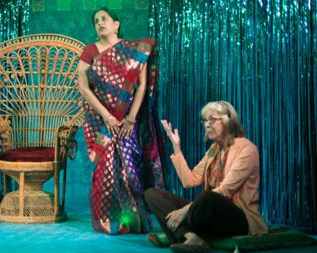 Pooja Chawla and Nancy Blum. Photo by Harvey Levine.