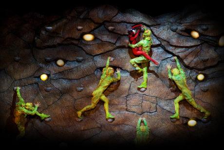 Trampoline crickets. Photo courtesy of Cirque du Soleil.