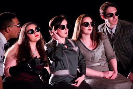 Carlo Campbell, Kirsten C. Kunkle, Lee Minora, Colleen Corcoran, and Chris Anthony. Photo by Carlo Campbell.