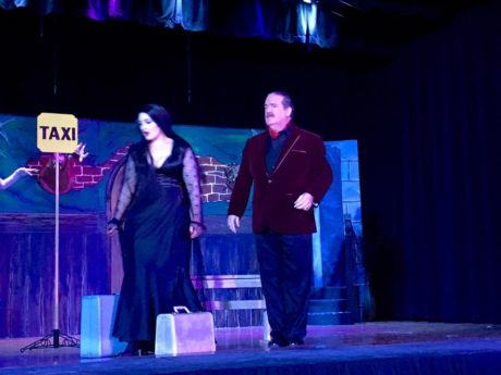 Morticia (Grace McCarthy) and Gomez (Jim Mitchell). Photo Courtesy of Sonia Downard.