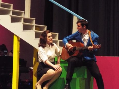 Elijah King (Robbie), Rachel Cahoon (Julia). Photo by Kimberly Klain.