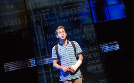 Ben Platt (Evan Hansen). Photo by Matthew Murphy.