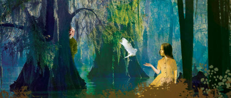 3.Promotional image for Enchantment Theatre Company's The Beast in the Bayou. Design by Hanna Manninen.