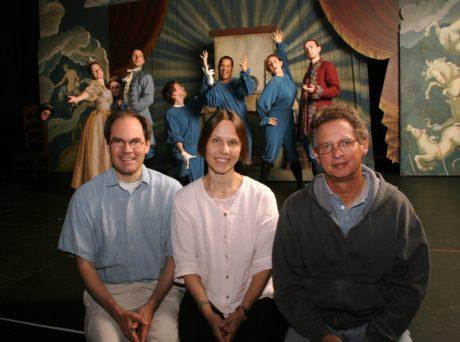 Landis Smith, Jennifer Blatchley Smith, and Leslie Reidel. Photo courtesy of Enchantment Theatre Company.