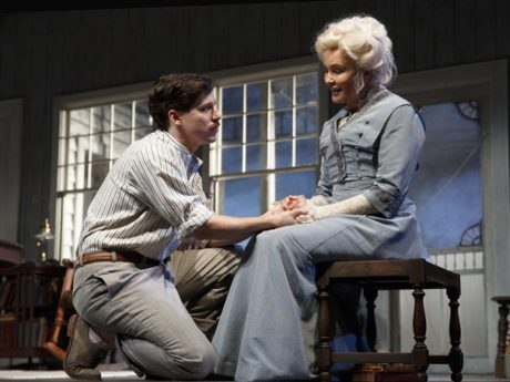 John Gallagher Jr. (Edmond) and Jessica Lange (Mary). Photo by Joan Marcus.
