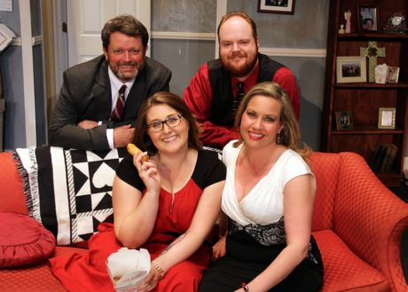 The cast: Micheal W George, Ashley Snow, Will Heyser-Paone, and Jennifer Donnelly George. Photo by Adam Blackstock.