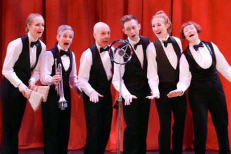 Gwen Grastorf, Karen Hansen, Mark Jaster, Alex Vernon, Sarah Olmsted Thomas, and Sabrina Mandell. Photo by Cheyenne Michaels.