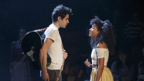 Damon Duanno (Orpheus) and Nabiyah Be (Eurydice). Photo by Joan Marcus.