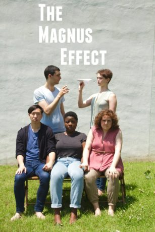 4.Richard Chan, Zoe Richards, Amanda Jill Robinson, David Pica, and Hannah Van Sciver in a promotional image for The Magnus Effect. Photo by Dave Sarrafian.