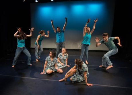 Jane Franklin Dance 'Wash Over You' in rehearsal on 3/7/2015 at Theatre on the Run. Photo courtesy of Jane Franklin.