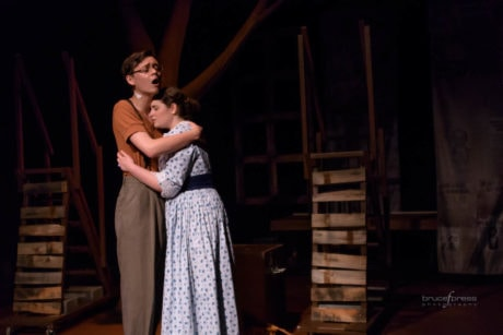 L to R: Lauren Alberg (Lucille Frank) and Tommy Eyes (Leo Frank). Photo by Bruce F. Press Photography.