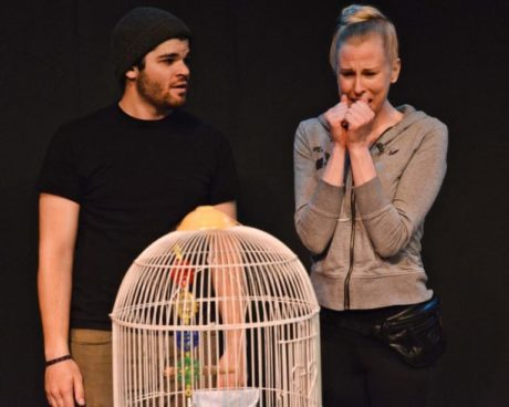 L to R: Zack Bopst (Herb) and Barbara Madison Hauck (June) in 'Babo and the Bird.'Photo by Tessa Sollway.