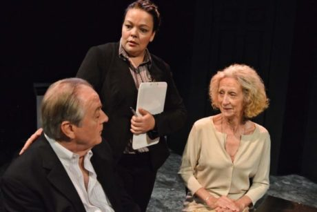 L to R: Peter Wilkes (Mr. Langford), Holly Elizabeth Gibbs (Patricia), and Dianne Hood (Mrs. Langford) in 'Compos Mentis.' Photo by Tessa Sollway.