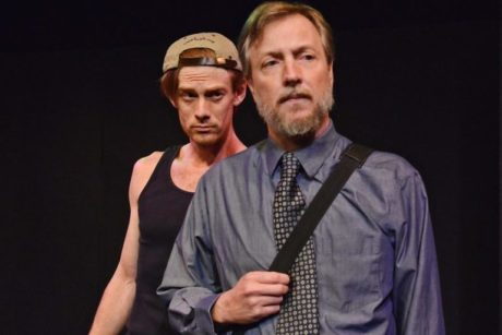 L to R: David Shoemaker (Scott) and Gareth Kelly (Mark) in 'Monument.' Photo by Tessa Sollway.