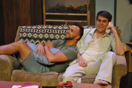 Erich DiCenzo (Michael) (reclining, and Brendan Quinn (Gary). Photo by Matthew Randall.
