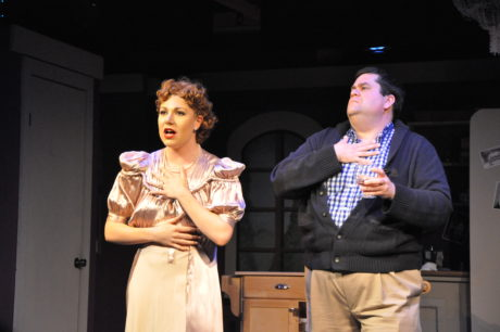 Janet Van De Graaf (Kendall Sigman) and Keith Tittermary (Man in Chair). Photo by Elli Swink.