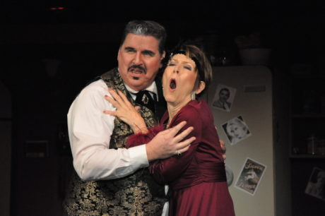 Aldolpho (Steve Cairns) and The Drowsy Chaperone (Liz Weber). Photo by Elli Swink.
