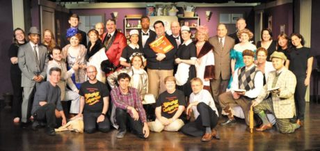 The cast, director, and crews of 'The Drowsy Chaperone.' Photo by Elli Swink.