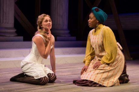 Maren Bush (Portia) and Celeste Jones (Nessa). Photo by Teresa Wood Photography.