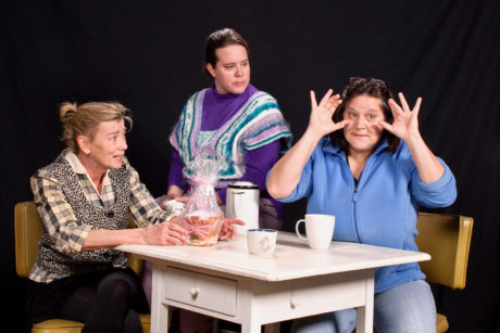 Bernadette Arvidson, Karen Lambert, and Shirley Panek. Photo courtesy of Colonial Players.