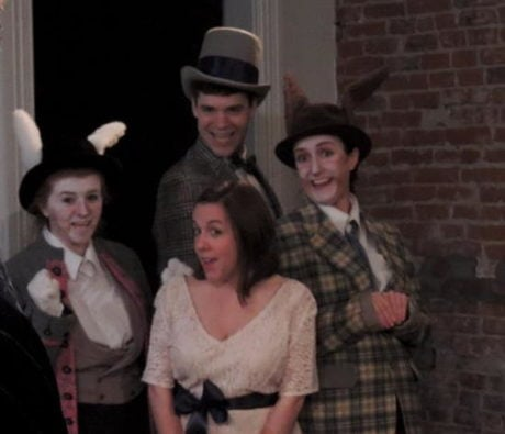 The cast of 'Lost in Wonderland.' Photo courtesy of Pallas Theatre Collective.